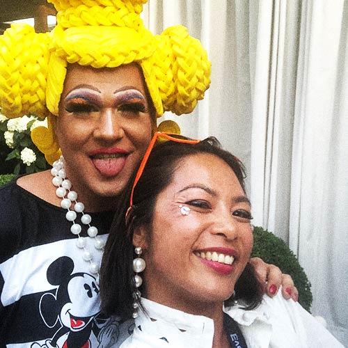 Justine Violante at Zurich Street Parade 2019 with Lou Gossipa