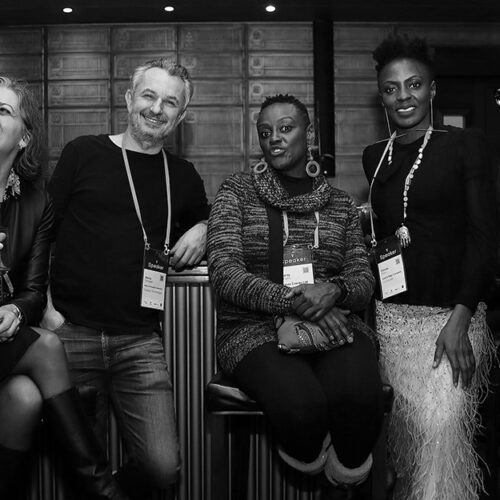 worldwebforum-2020-SpeakersDinner-SophieProust-MarcoTempest-CharityWanjiku-OshokePamelaAbalu
